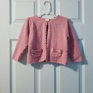 •gymboree pink cardigan 2T•